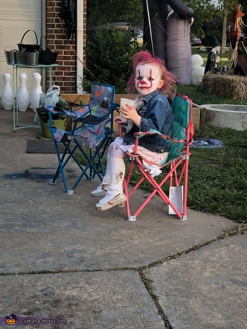 Toddler IT Homemade Costume