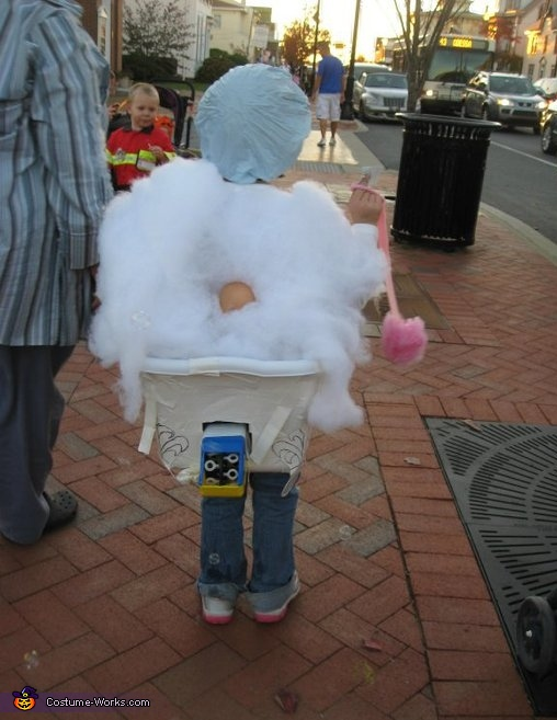 Back of too many kids in the tub.  Bubbles!, Too Many Kids in this Tub Costume