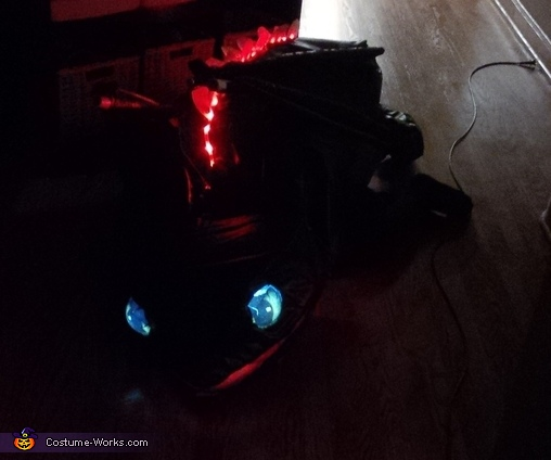 Eyes Lit and Red LEDs, Toothless Costume