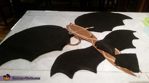 The wings, Toothless Alpha Boy's Costume