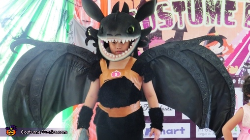 Toothless the Dragon Homemade Costume