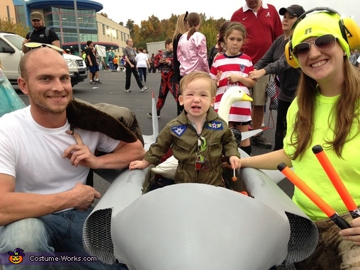 Top Gun Family Homemade Costume