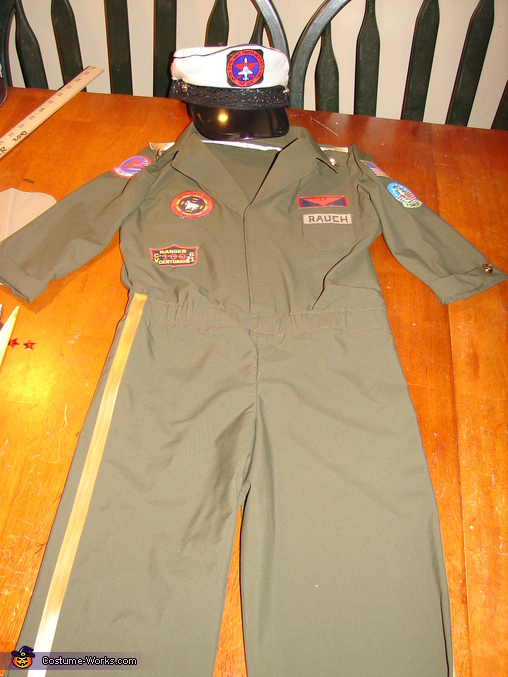 Flight Suit, Jet Pilot Maverick and his Top Gun Fighter Jet Costume