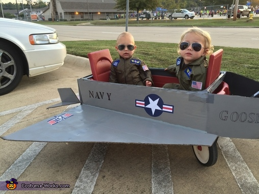 Top Gun - Goose and Maverick Homemade Costume