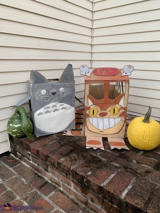 Totoro and Catbus Homemade Costume