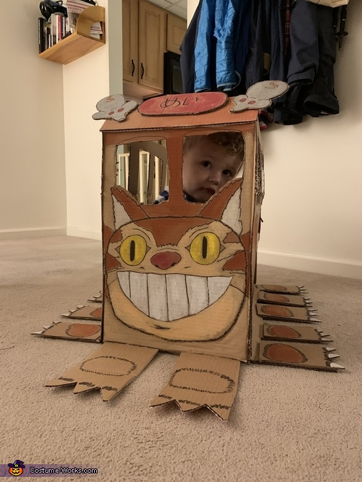 Linus also loves to hide in the Catbus costume, Totoro and Catbus Costume