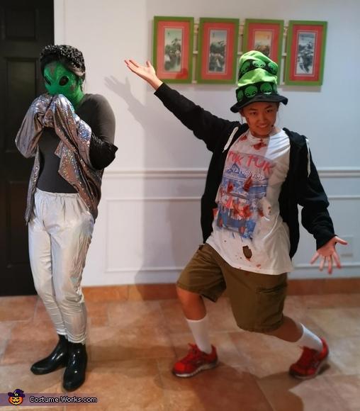 Tourist shot by Area 51 guards & stolen alien Homemade Costume