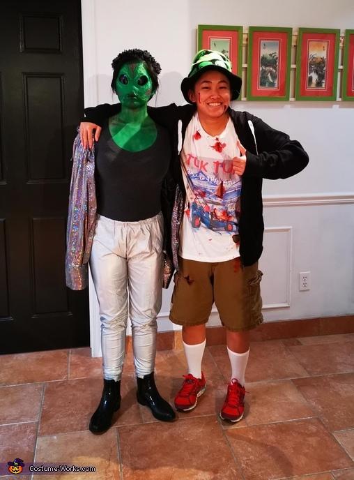 Tourist shot by Area 51 guards & stolen alien Costume