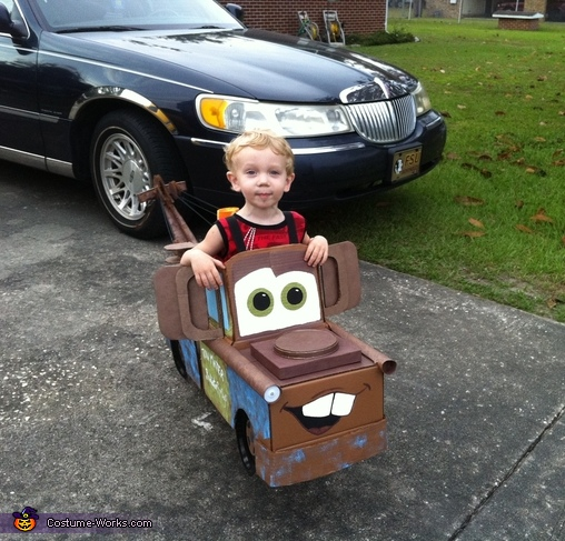 side angle, Tow Mater the Tow Truck Costume
