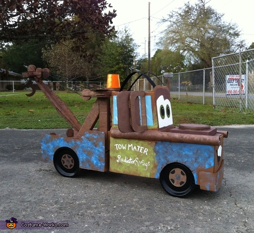 just the side view, Tow Mater the Tow Truck Costume