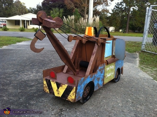 rear angle, Tow Mater the Tow Truck Costume