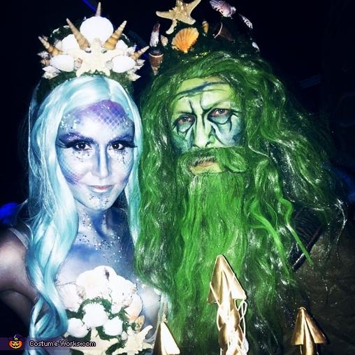 toxic mermaid and poseidon couples halloween costume