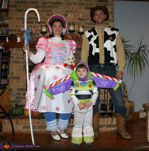 Toy Story Family Costume Bo Peep, Woody and Buzz Lightyear