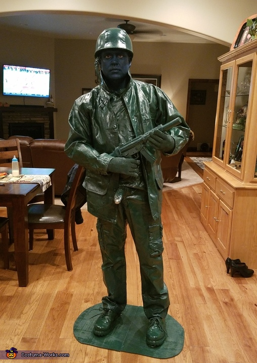 Toy Army Man Living Statue Costume