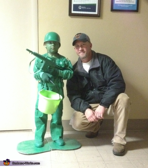 Caysen and his dad. This was a great picture., Toy Soldier Costume