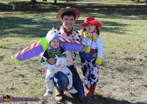 Woody, Buzz, and Jessie, Toy Story Costume