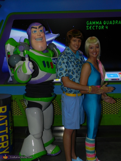 Buzz put us in these positions lol, Barbie and Ken Toy Story 3 Costumes