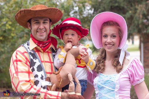Close-up Family Shot, Toy Story Gang Costume