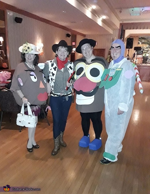 Mr. & Mrs. Potato Head, Buzz, Woody, Toy Story Costume