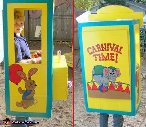 Here are views of Crane Machine from the side and the back. Crane Machine - Homemade costumes for boys