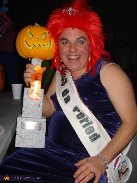 Our Winning trophy., Trailer Trash Beauty Queens Group Costume