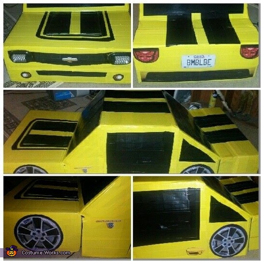 Car detail, Transformable Bumblebee Transformer Camaro Costume