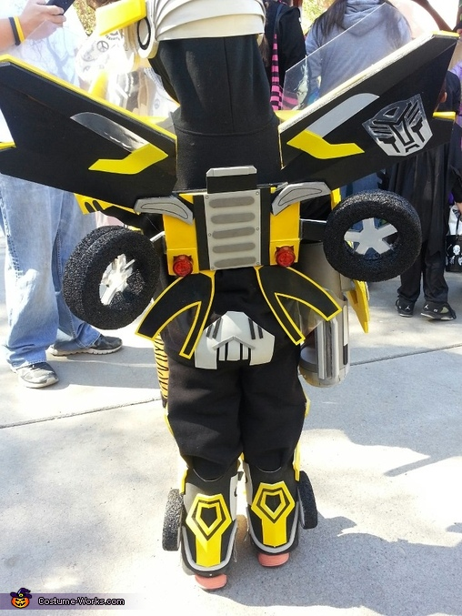 Back side, Transformer Bumblebee Costume