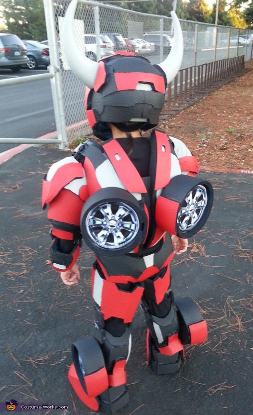 back view, Transformer Cliffjumper Costume