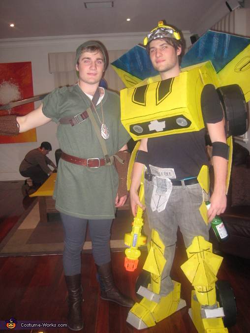 Me and my brother (he is dressed as link), Transformers BumbleBee Costume