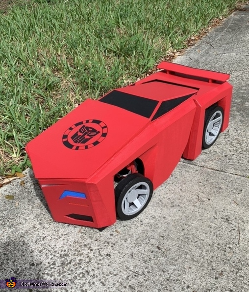 Car mode, Transformers Sideswipe Costume