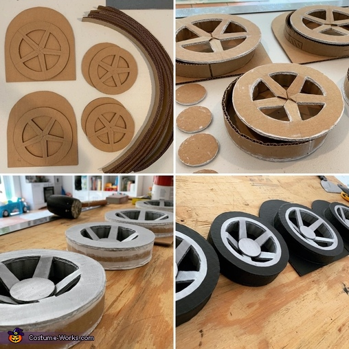 Wheel construction, Transformers Sideswipe Costume