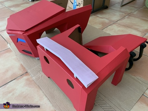 Car construction, Transformers Sideswipe Costume