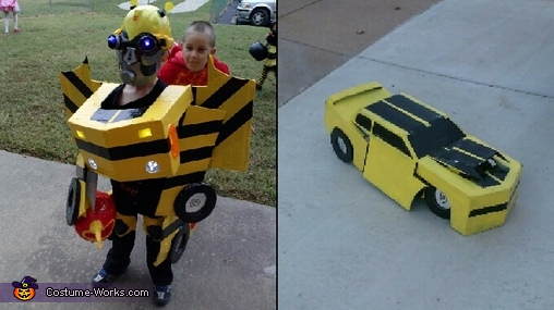 Both of his transformations., Transforming Bumblebee Costume