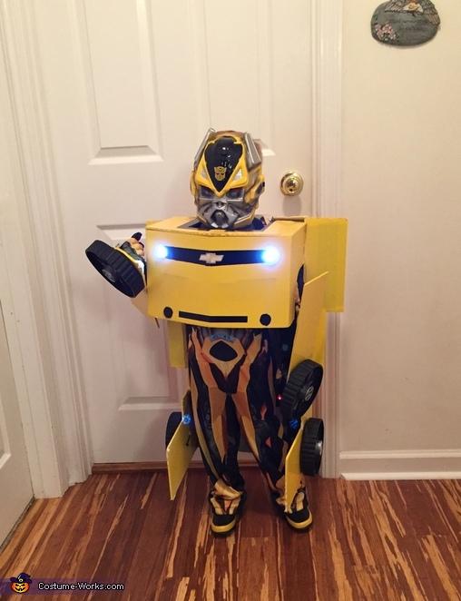 Transforming Bumblebee Transformer Costume