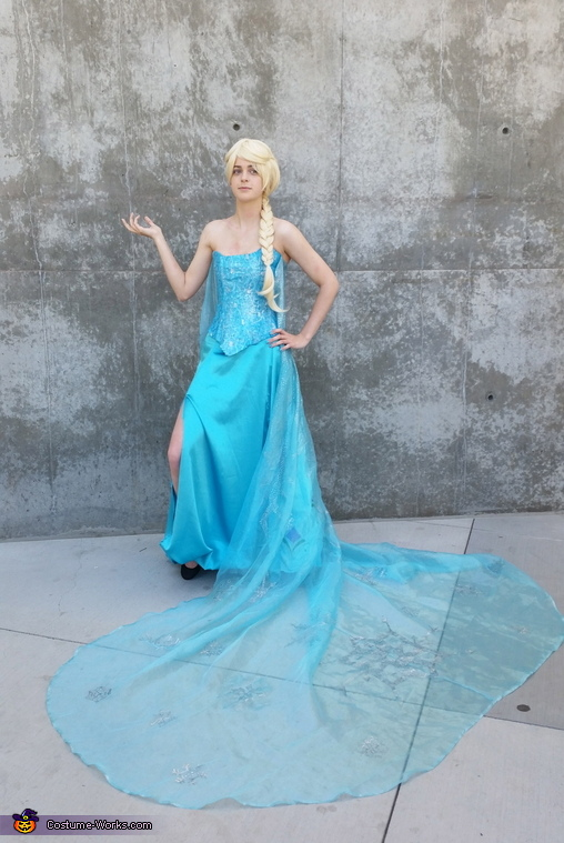 Ice dress, Transforming Elsa Costume