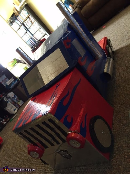 Truck Front, Transforming Optimus Prime Costume