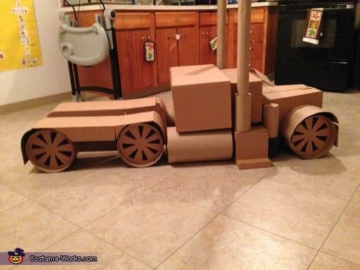 The Finished Cardboard Product, Transforming Optimus Prime Costume