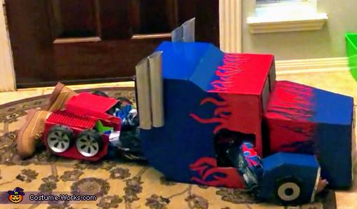 DIY Transforming Optimus Prime Costume