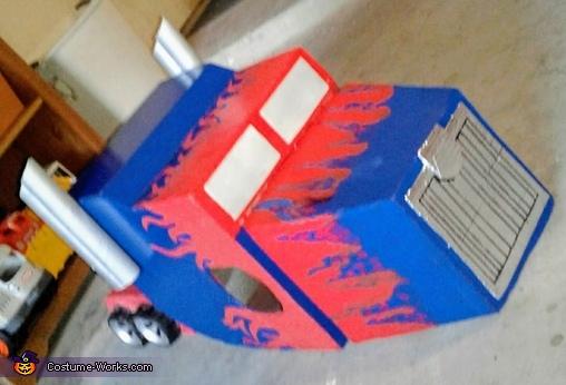 Transforming Optimus Prime Homemade Costume