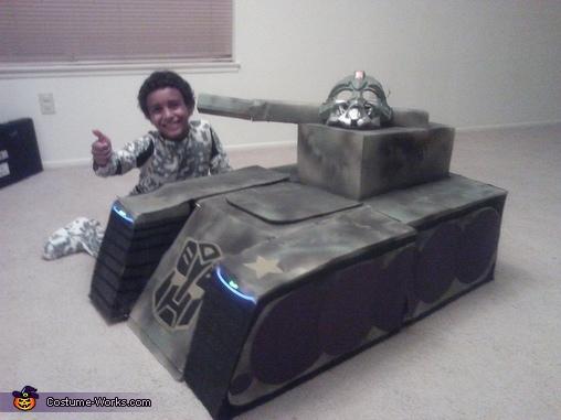 Transforming Tank Costume