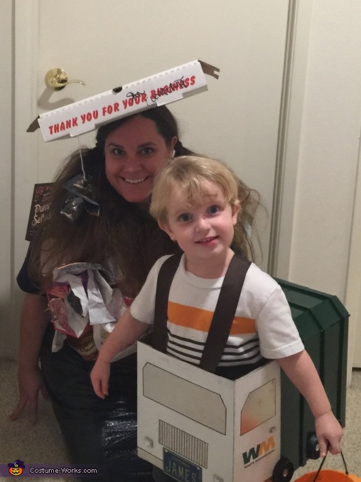 Trash truck son and trash mommy, Trash Truck Family Costume