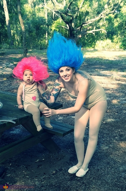 Treasure Troll Trio Homemade Costume