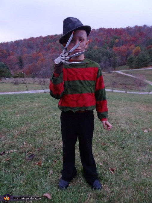 Trent as Freddy Krueger, Horror Movies Costumes