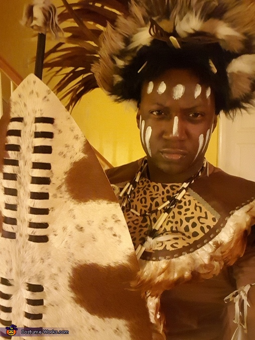 Tribal African Zulu Warrior Costume