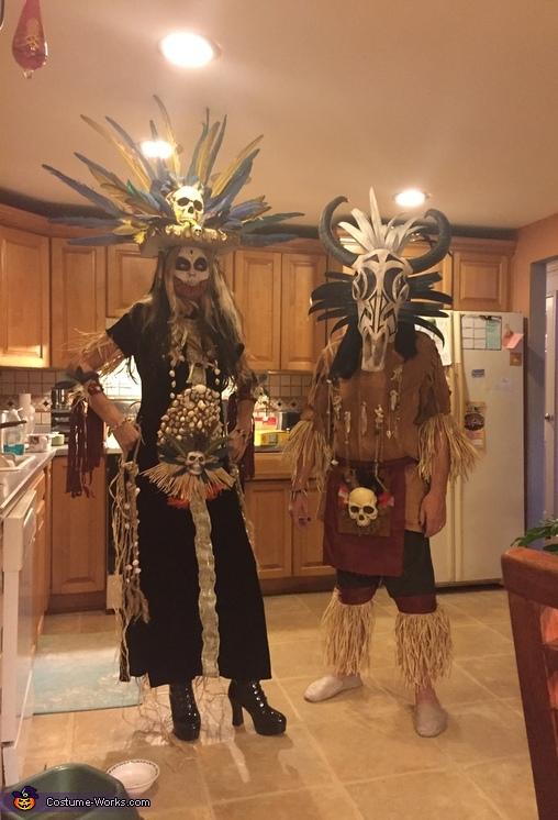 Tribal warrior with voodoo princess, Tribal Warrior Costume