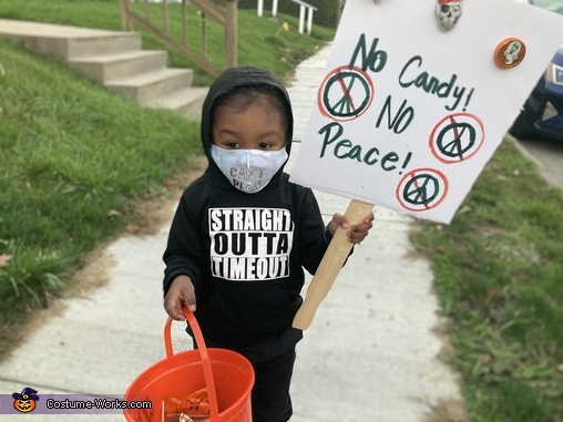 Trick or Treat Protester Costume