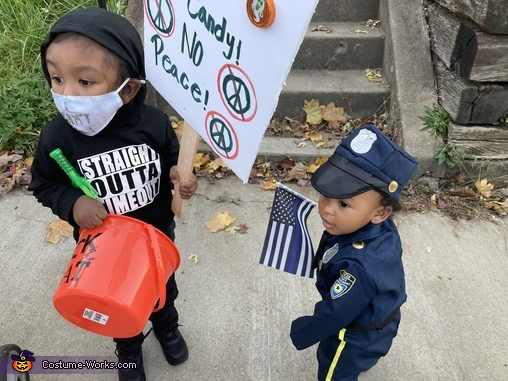 Someone called the cops, Trick or Treat Protester Costume