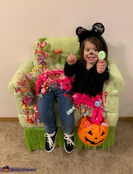 Trick R Treater Who Ate Too Much Candy Homemade Costume
