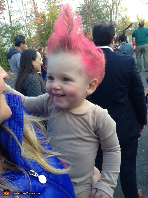 Troll baby close-up, Troll Doll Baby Costume