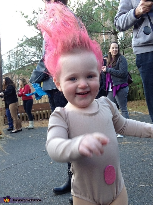Troll baby having fun, Troll Doll Baby Costume